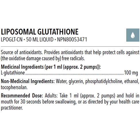 LIPOSOMAL GLUTATHIONE 50 ML - iwellnessbox