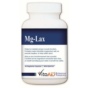 Mg-Lax Gentle Osmotic Stool Softener 84 veg caps