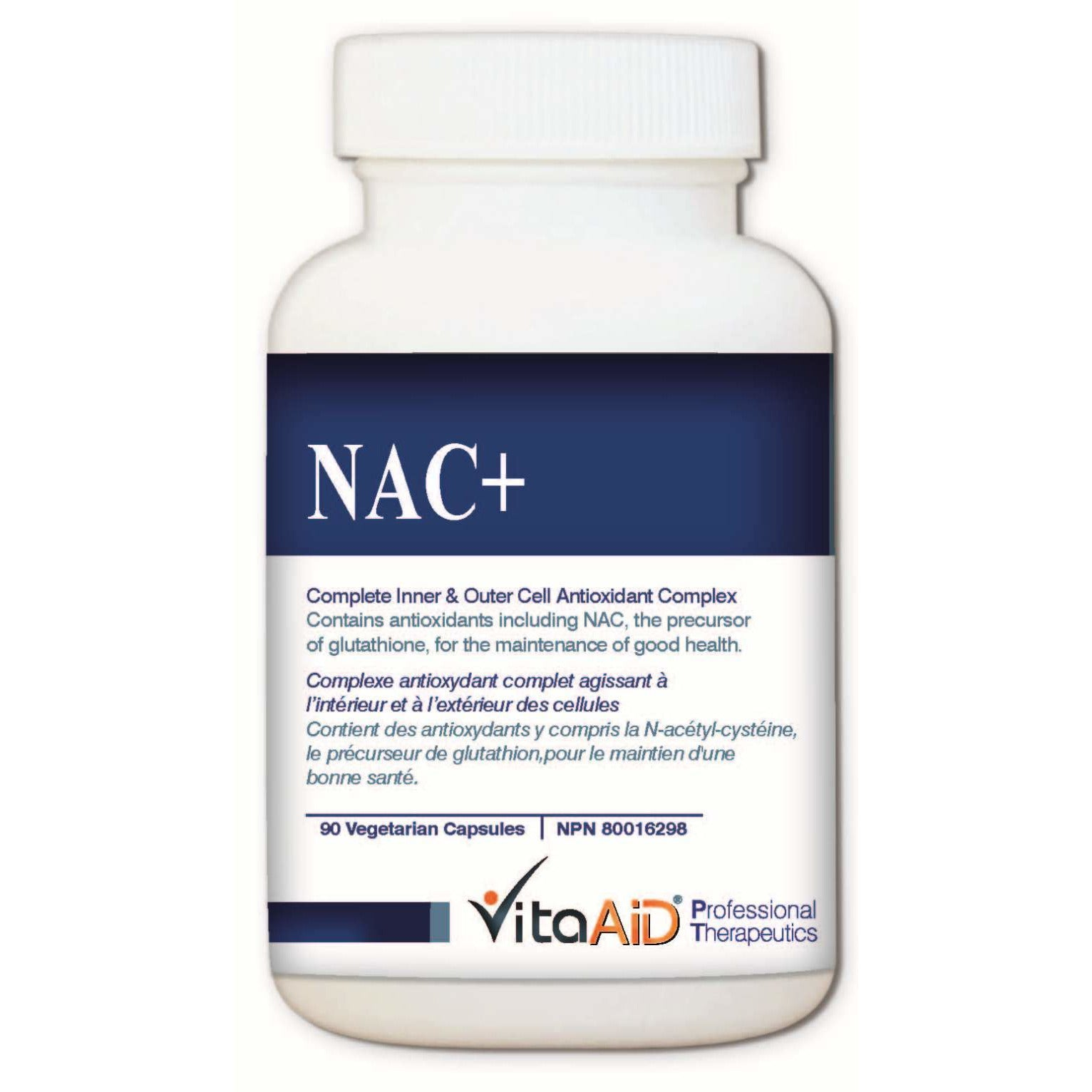 NAC Plus Protects against Reactive Oxygen Species and Replenishes Glutathione Levels 90 veg caps