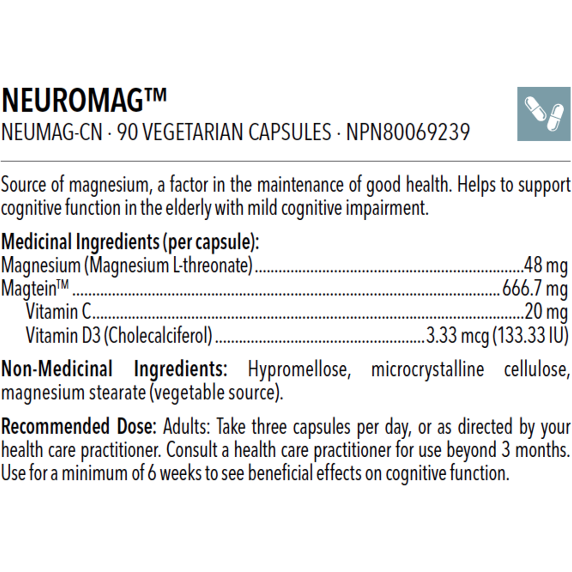 NEUROMAG™ 90 vcaps