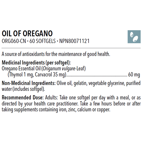 OIL OF OREGANO 60 softgels - iwellnessbox
