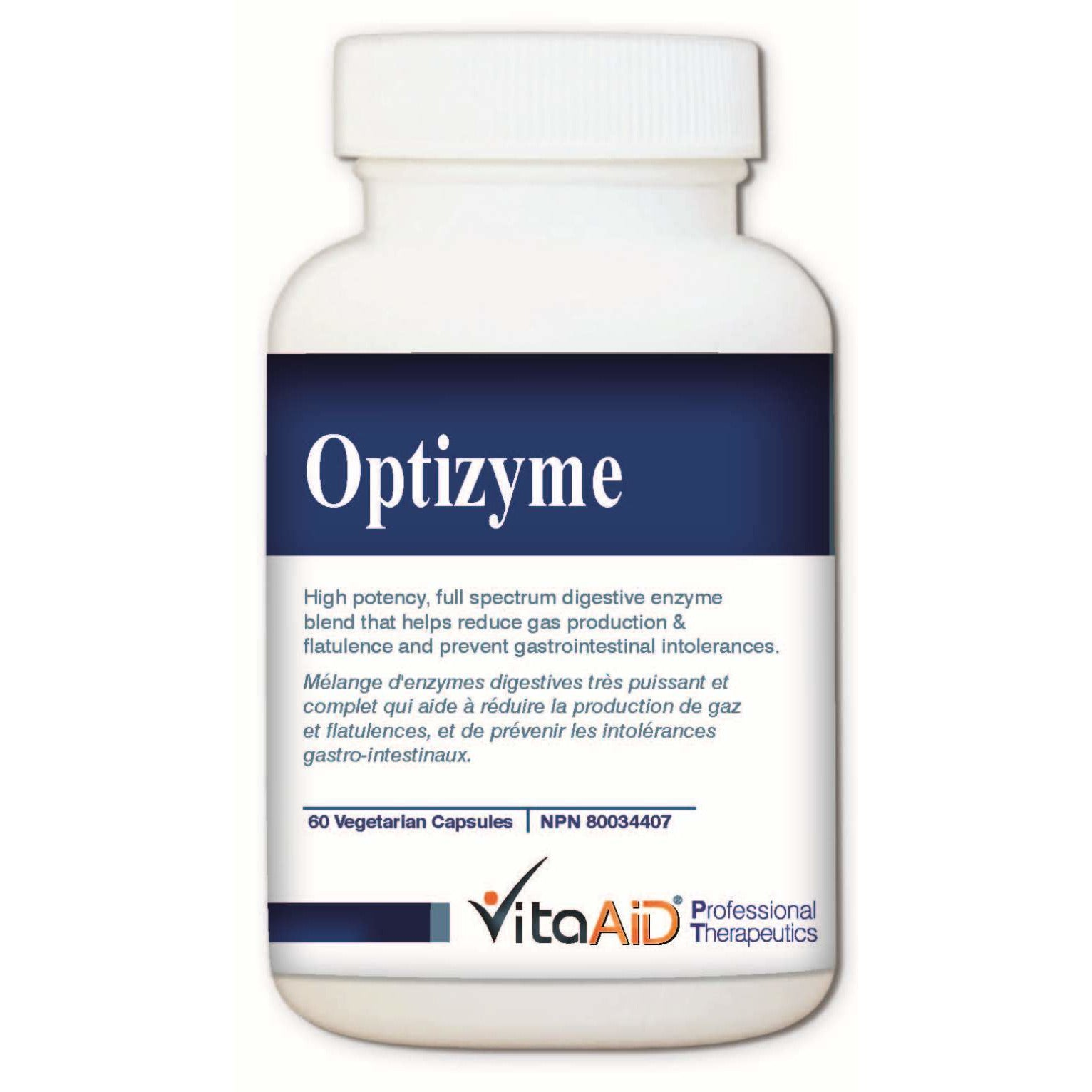 Optizyme (S)  High Dose, Full Spectrum of Digestive Enzymes 60 veg caps