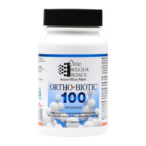 Ortho Biotic 100 Ortho Biotic 100 is an extra-strength probiotic delivering 100 billion active cultures to support gastrointestinal health. 30 caps