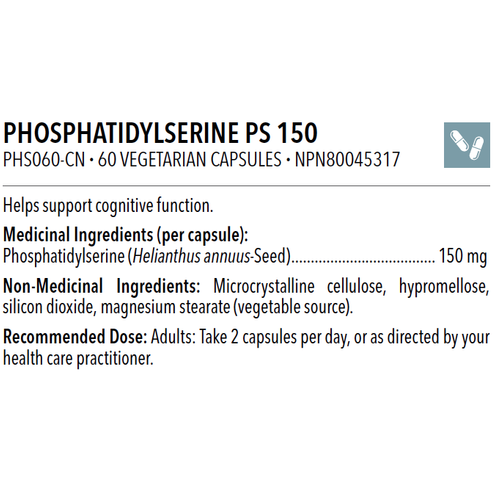 Phosphatidyl Serine 150mg 60 caps - iwellnessbox