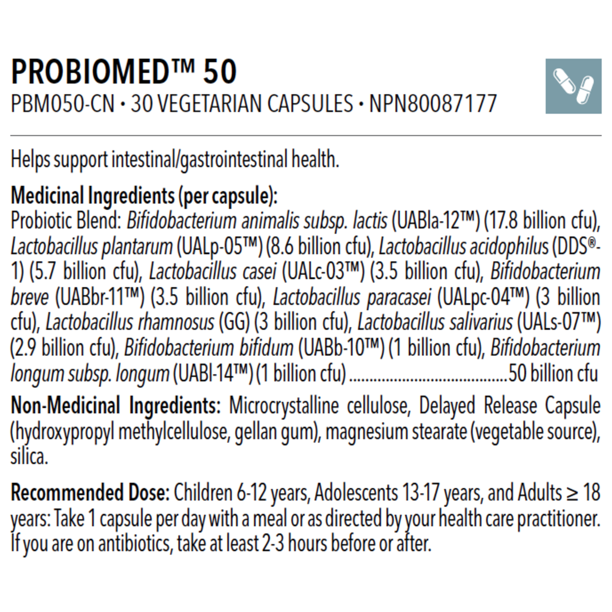 PROBIOMED™ 50 30 caps - iwellnessbox
