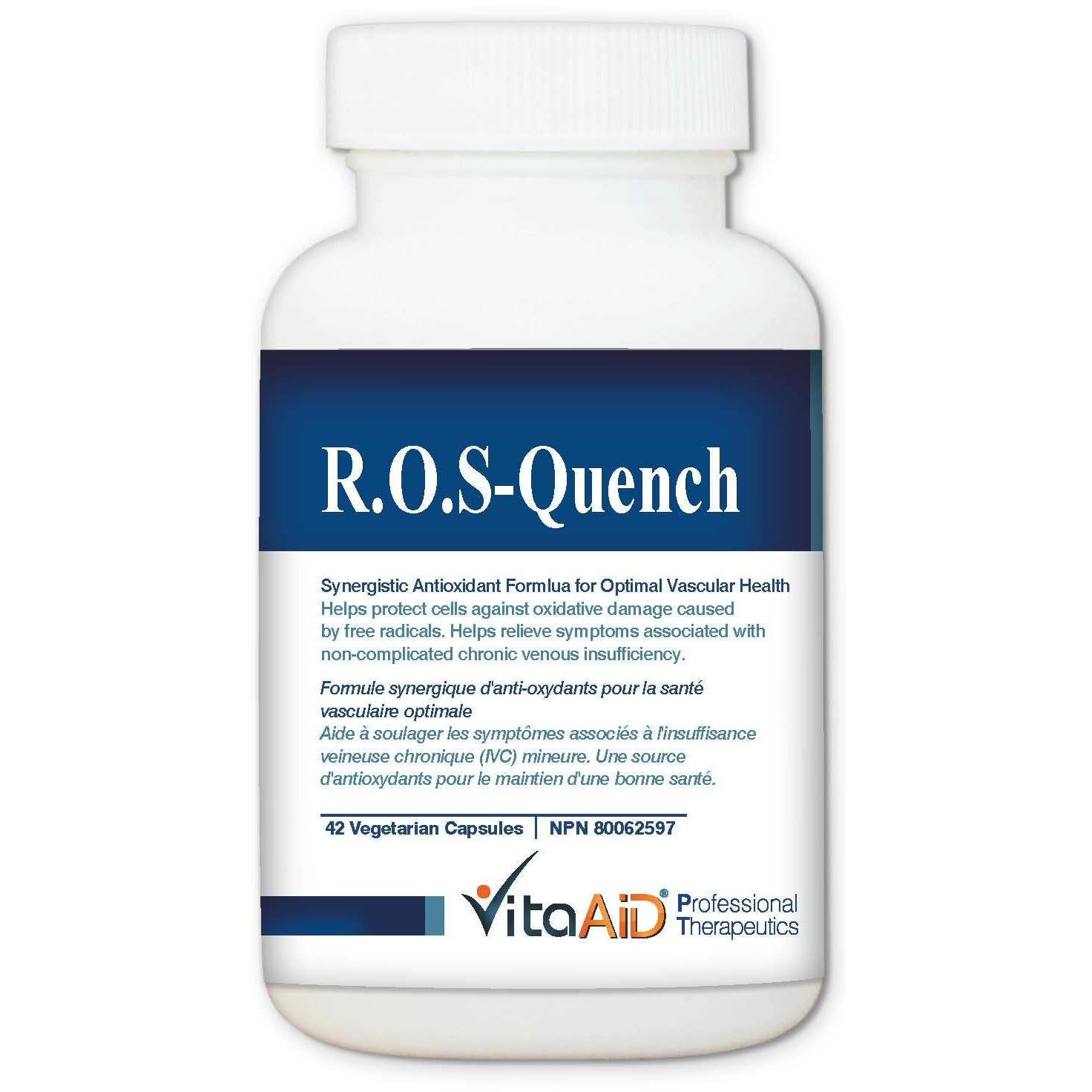 ROS-Quench Synergistic Super-Antioxidant Formula Featuring High Dose All-Trans Resveratrol 42 veg caps