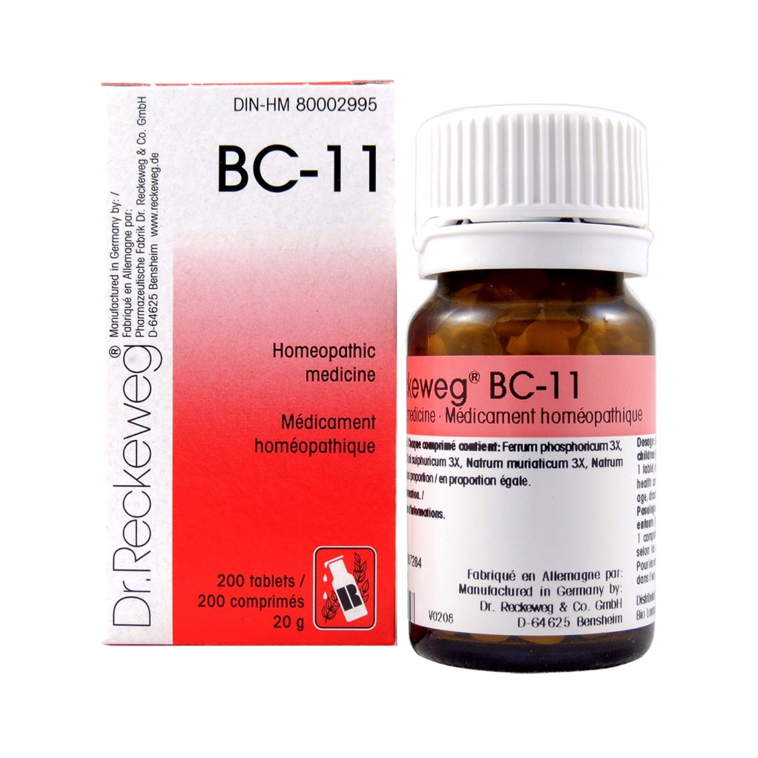 BC-11 Homeopathic medicine – Combination salt  200 tablets (20 g)