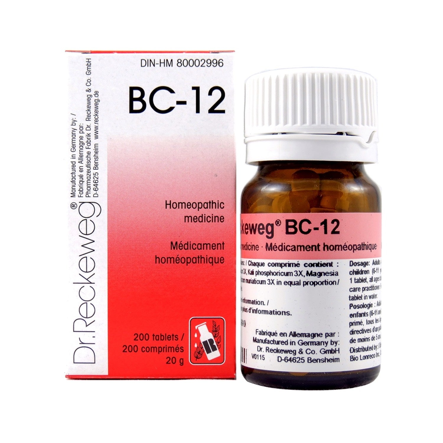 BC-12 Homeopathic medicine – Combination salt  200 tablets (20 g)