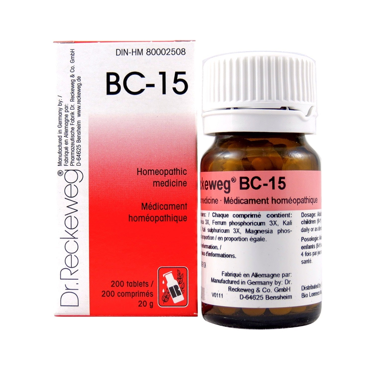 BC-15 Homeopathic medicine – Combination salt  200 tablets (20 g)