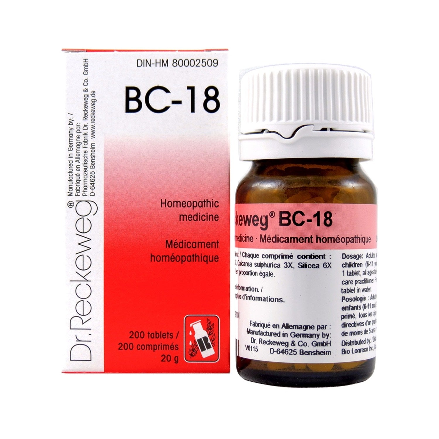 BC-18 Homeopathic medicine – Combination salt  200 tablets (20 g)
