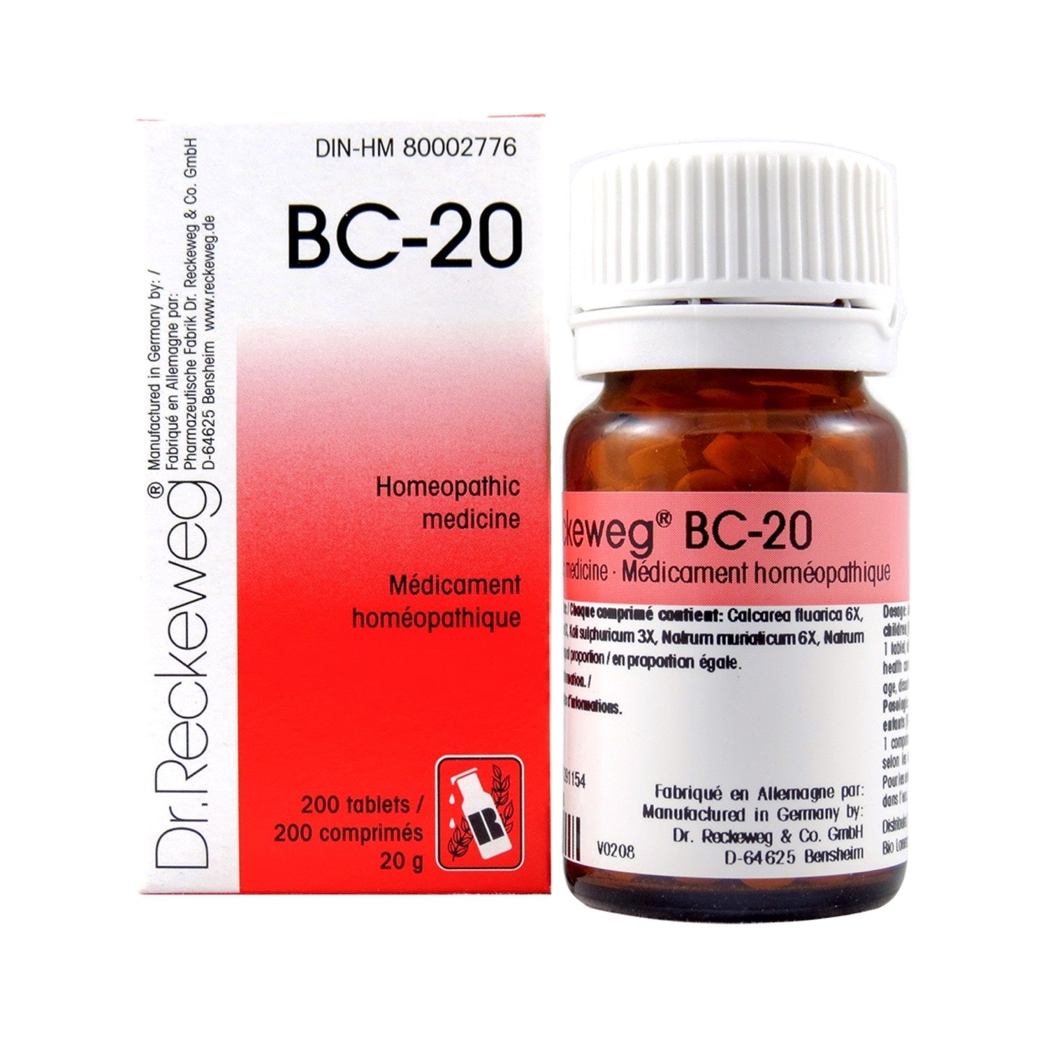BC-20 Homeopathic medicine – Combination salt  200 tablets (20 g)