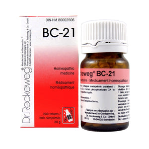 BC-21 Homeopathic medicine – Combination salt  200 tablets (20 g)