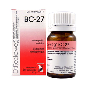 BC-27 Homeopathic medicine – Combination salt  200 tablets (20 g)