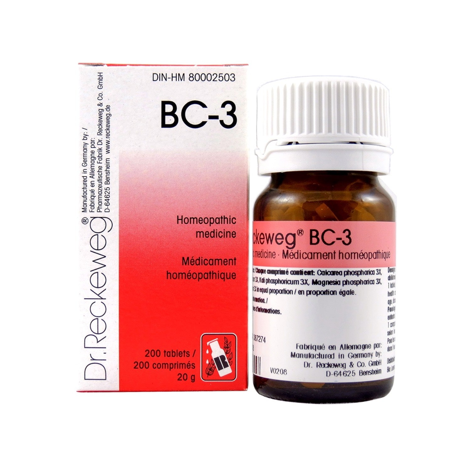BC-3 Homeopathic medicine – Combination salt  200 tablets (20 g)