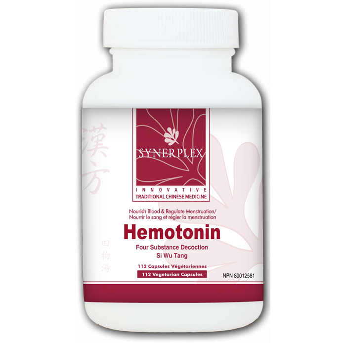 Hemotonin Tonifies the Blood and Regulates Menstruation the Liver Supports Blood Deficiency and Regulates Menstruation. 112 veg caps