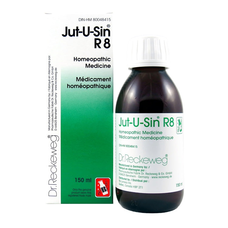 R8 Jut-U-Sin Cough expectorant Homeopathic medicine  150 ml Syrup