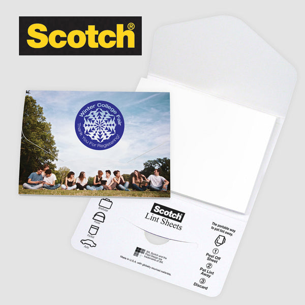 Scotch® Custom Printed Lint Sheets Pocket Pack