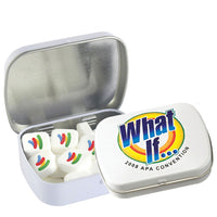 Domed Tin Imprinted Square Mints