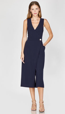 Adelyn Rae Navy Jumpsuit