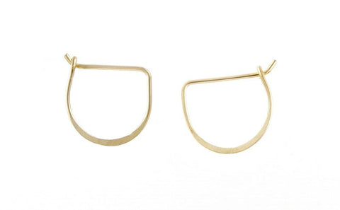 Meredith Hoop Earrings- Gold