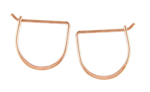 Meredith Hoop Earrings- Rose Gold