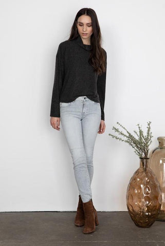 Caulder Charcoal Sweater Knit
