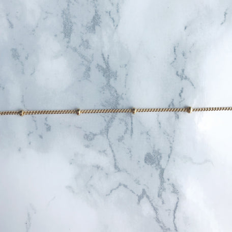 KM GOLD BALL WAIST CHAIN [GOLD FILLED]