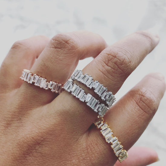 BAGUETTE ETERNITY BANDS [SET] - KING ME Custom Jewelry by PG