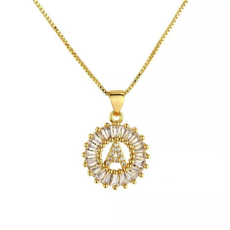 CAIRO CZ INITIAL NECKLACE - KING ME Custom Jewelry by PG