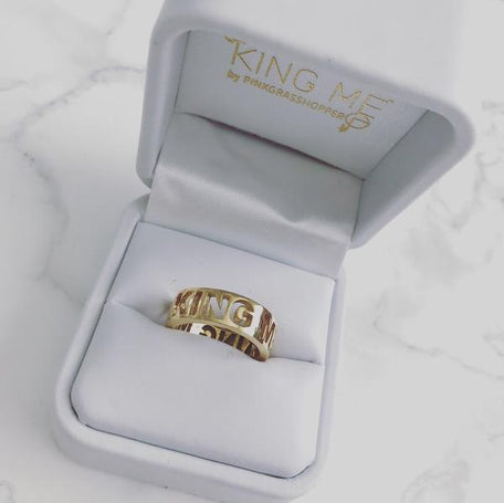 CUT-OUT NAME RING [CUSTOMIZE] - KING ME Custom Jewelry by PG