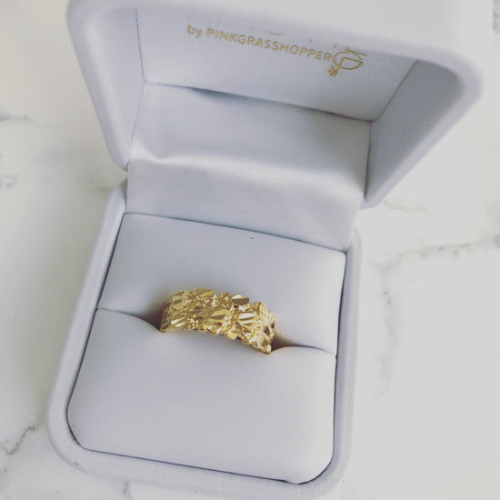 GOLD NUGGET RING - KING ME Custom Jewelry by PG