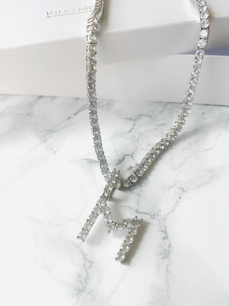 ICYY INITIAL DIAMOND LINK NECKLACE - KING ME Custom Jewelry by PG