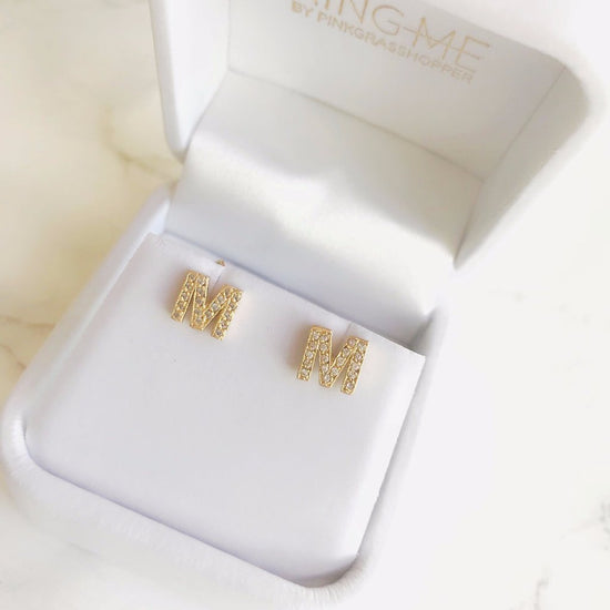 INITIAL EARRINGS - KING ME Custom Jewelry by PG