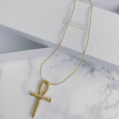KING BEY'S ANKH NECKLACE - KING ME Custom Jewelry by PG