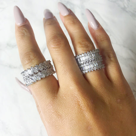 KING CARATS ETERNITY BAND SET - KING ME Custom Jewelry by PG