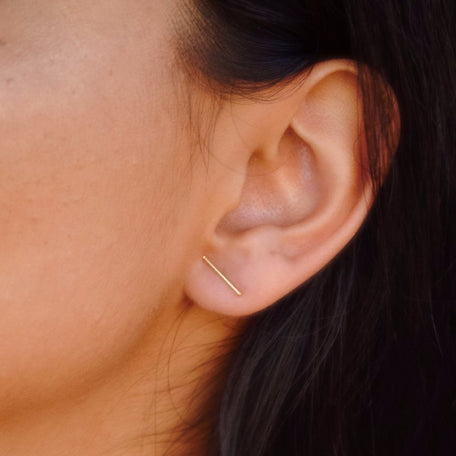 LOLA BAR STUD EARRINGS - KING ME Custom Jewelry by PG