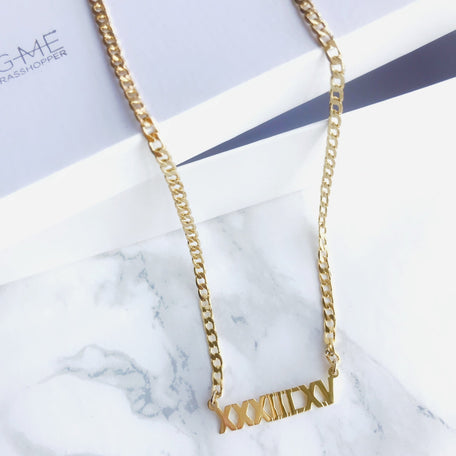 NAMEPLATE CHOKER [GOLD FILLED] - KING ME Custom Jewelry by PG