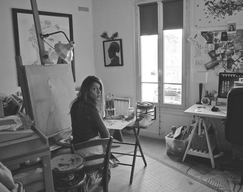 Alexandra-Rouard_female_painter_artist_studio