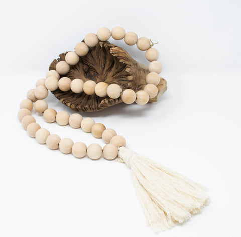 wooden_beaded_necklace_tassel_handmade_India-Necklace