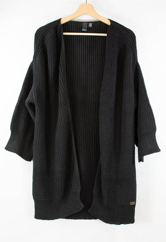 Hand-knit_cardigan_black_cotton_front_small