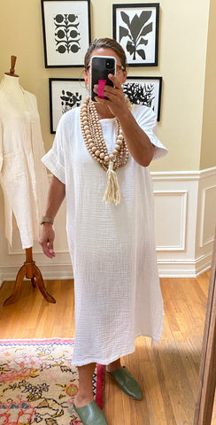 Laguna-Dress_cotton_caftan_midi_short-sleeve_white_beaded_necklaces