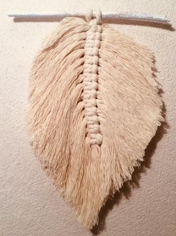Wall Hanging_Leaf_Feather_cotton_handmade_made by women_female artisans