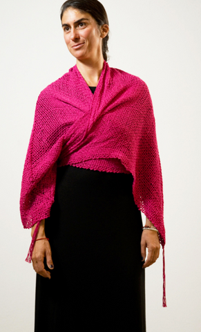 woven_wrap_tassel_fuscia_handwoven_made by women_versatile_natural fibers