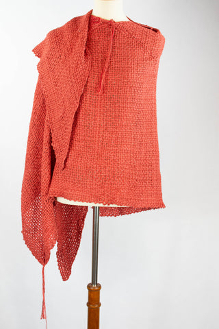 red_wrap_handwoven_made by women_mexico_san miguel_weaving_