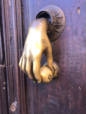 hand_iron_brass_doorknocker_san miguel_mexico_door_architecture
