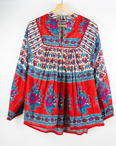 poppy_red_blue_white_floral_pullover_popover_top_block-printed_India_longsleeve_front_small