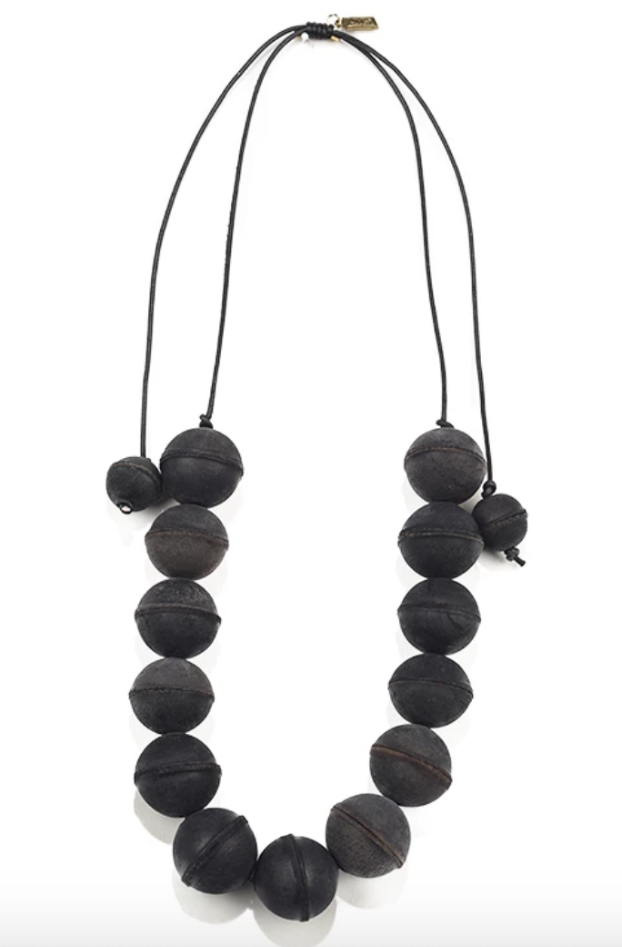Leather Bead Necklace
