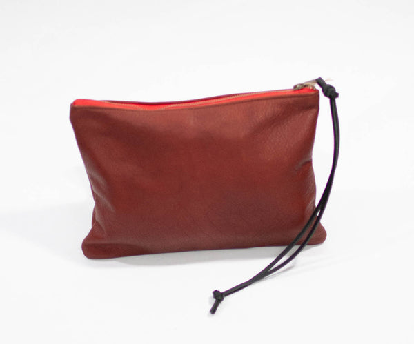Spencer Devine Assam Leather Clutch Bag