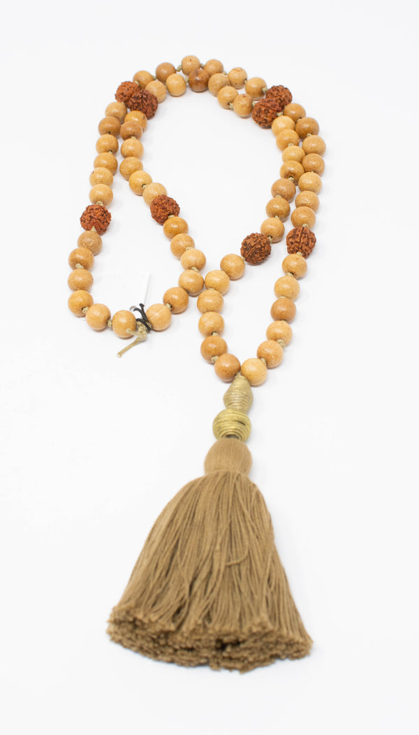 Sandalwood Beaded Necklace