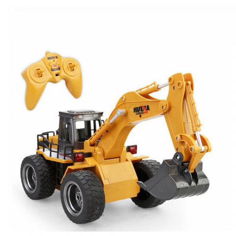 HUINA 1:18 RC EXCAVATOR W/WHEELS 6CH(1530)